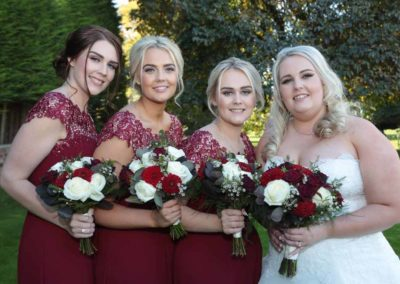 Makeup for the bride and bridesmaids